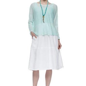 NWT $218 Eileen Fisher organic cotton skirt. NWT.